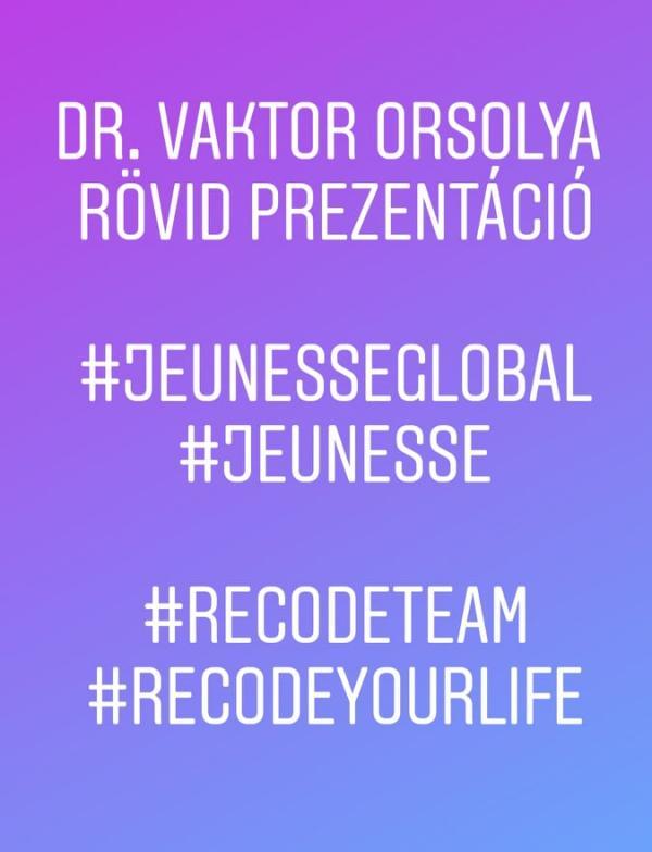 Jeunesse prezentáció - dr. Vaktor Orsolya